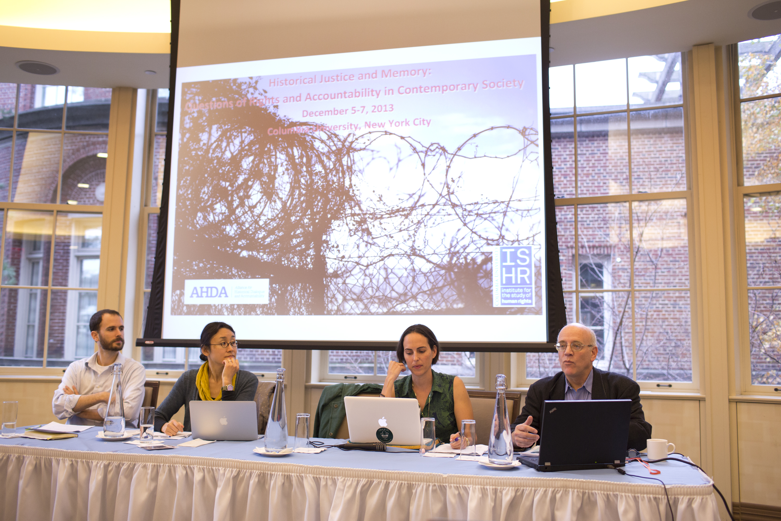 A moment from the 2014 Conference on Historical Justice and Memory