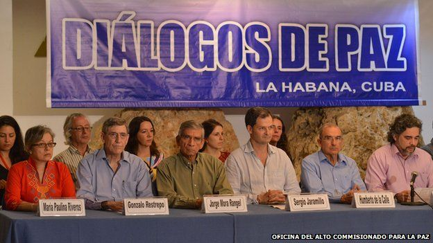 After almost 50 years of armed conflict, the Revolutionary Armed Forces of Colombia (FARC) has agreed to enter peace discussions with the Colombian government and participate in a Truth and Reconciliation Commission. Cred- BBC News Jonathan Coomes.
